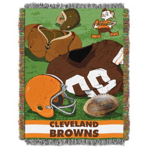 NFL Cleveland Browns Vintage Woven Tapestry Throw, 48