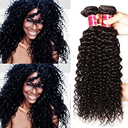 Nadula 7A Unprocessed Brazilian Remy Virgin Curly Hair Weave 3 Bundles Sexy Curly Human Hair Extensions Natural Color (10 12 14)