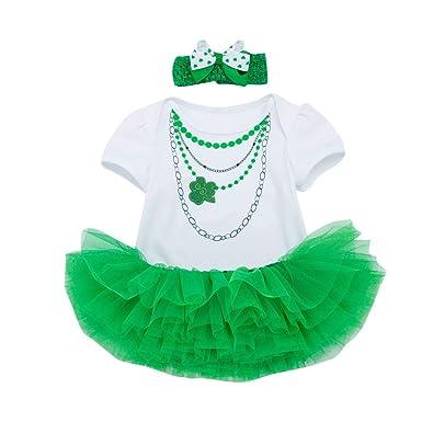 Irish Princess St Patrick/'s Day green rompersuit baby grow bodysuit sleepsuit