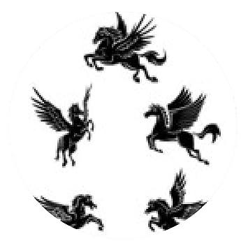 alfombrilla de ratón Símbolo del tatuaje del caballo del ala ...