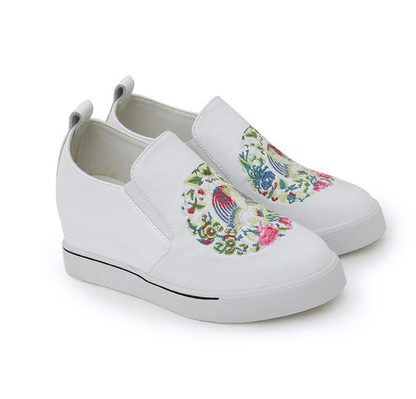 wholesale dealer 472f9 b621a Damenschuhe Maumldchen Versteckte Keilabsatz Plateau Sandalen Loafers  Casual Ethnischen Stil Stickerei Outdoor-Schuhe