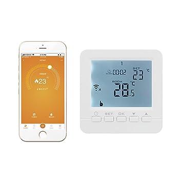 100~230V 6 idiomas Termostato caldera gas wifi de pared compatible con echo/ Alexa - programador semanal +/-0.5 regulador caldera controlador de caldera: ...