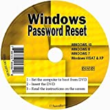 Windows Password Reset Recovery Premium CD for Removing your Forgotten Windows Password on Windows 10, 8.1, 8, 7, Vista, XP - Unlimited Use! for Desktop and Laptop