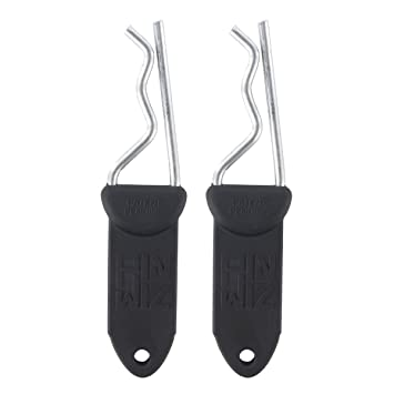 Pin Wiz Trailer Hitch Clip, Black, 2 Pack - Knuckle-Saving