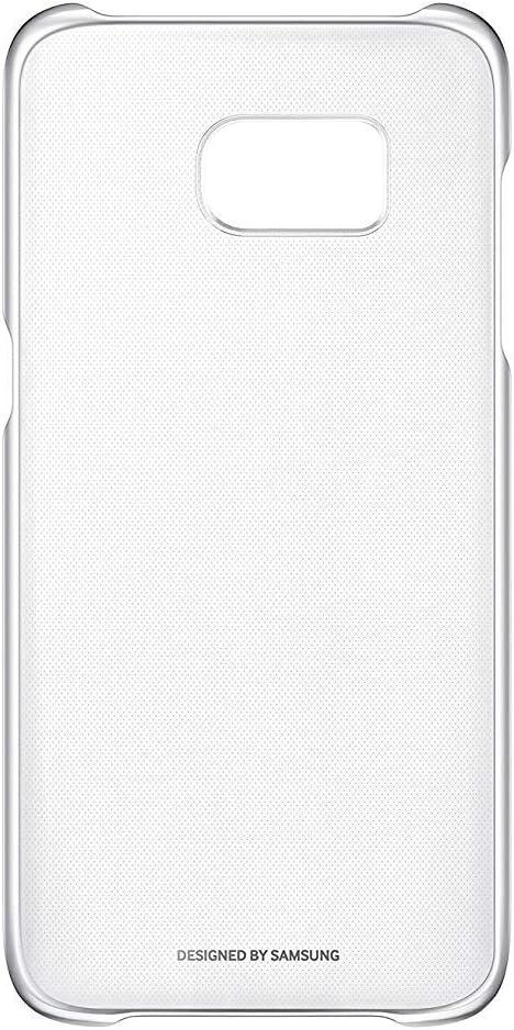 Samsung Clear Cover - Funda para Samsung Galaxy S7 Edge, color plata