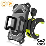 Bike Phone Mount,Bicycle Cell Phone Holder,Universal Motorcycle Handlebar Rack With 360° Rotation Adjustable Anti Shake Silicone BANDS Cycling Compatible With All Smart Phone iPhone X,8,7 Plus,Galaxy