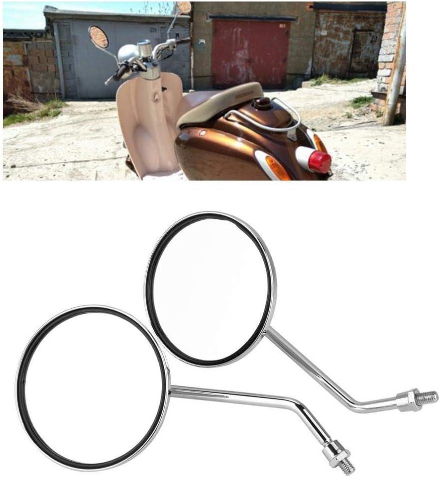 Broco 1 paire de 8 mm droit et gauche Vue lat/érale Moto arri/ère Miroir rond moto R/étroviseurs