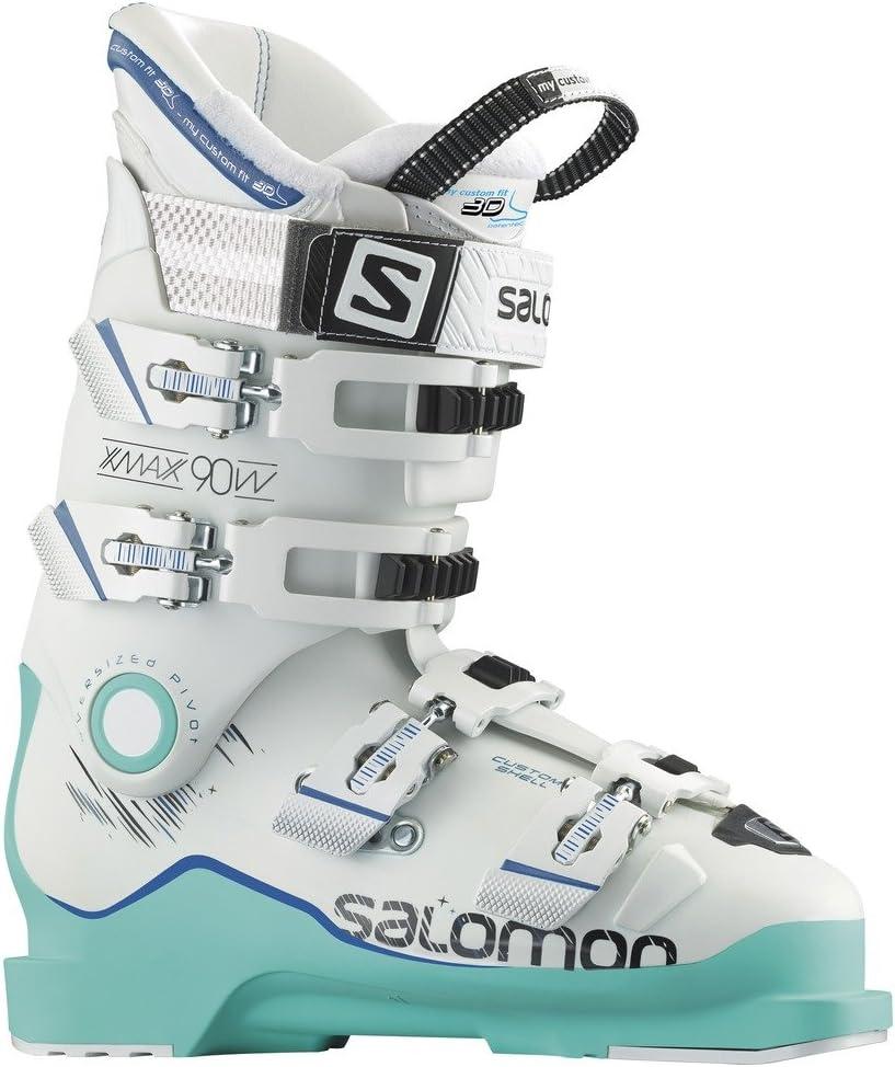 サロモン (SALOMON) スキーブーツ X MAX (マックス) 90 W L37813100 Soft 緑 (ソフトグリーン) F06/白い (ホワイト) /Union 青 (ユニオンブルー) 23.5