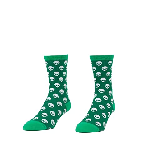 2fa4d102 Amazon.com: Aliens Novelty Socks - Quirky, Funny Women's Crew Socks ...