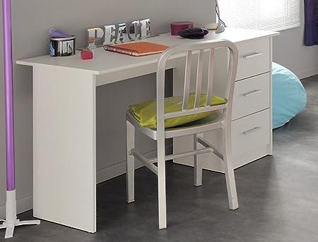 Puerta de escritorio Inaco 121 x 75 x 55 cm blanco mesa de ...