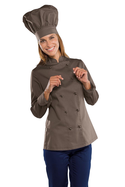 Isacco Giacca Lady Chef Bianco Bianco 65/% Poliestere 35/% Cotone Mezza Manica 150 gr//m/² S