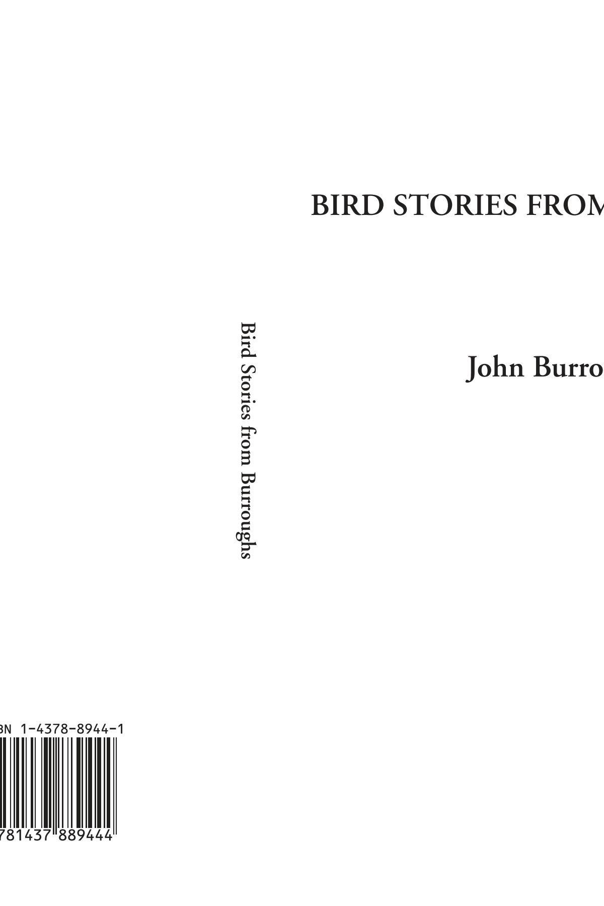 Bird Stories from Burroughs PDF