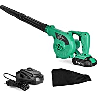 Cordless Leaf Blower - 20V 2.0 Ah Lithium Battery 2in1 Sweeper / Vacuum for Blowing Leaf, Clearing Dust & Small Trash…