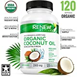 Coconut Oil Candida DOUBLE STRENGTH 2000mg! Organic Coconut Oil Capsules for Hair Growth, Radiant Skin & Natural Weight Loss - Non-GMO, Unrefined Cold Pressed Coconut Oil Rich in MCFA and MCT - 2 Month Supply!
