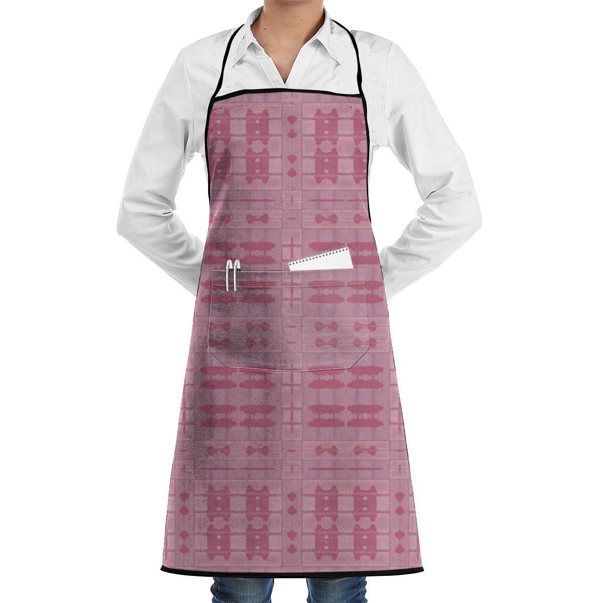 Delantal de chef de cocina ajustable a cuadros rosa cálido tribal ...