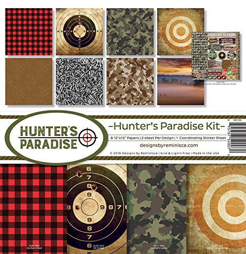 Reminisce Scrapbook Hunter's Paradise Collection - Camo Scrapbook Paper