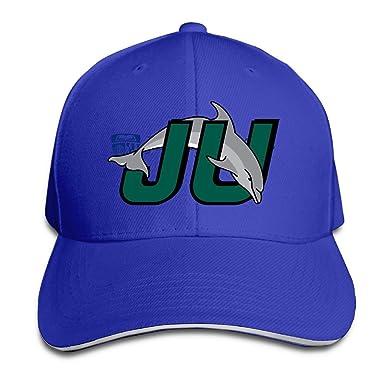 amazon meikeyユニセックスjhuロゴスポーツsandwich fitted hat