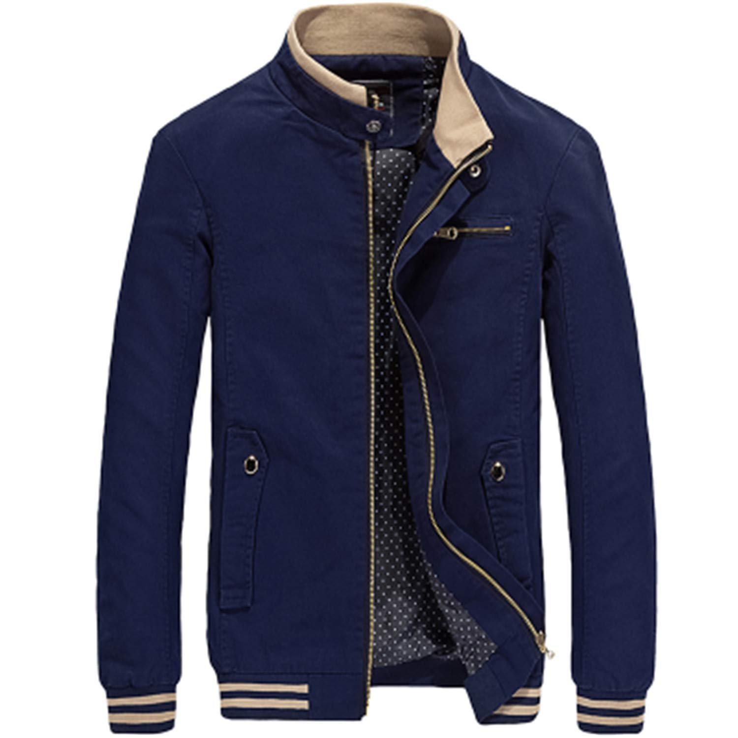 Amazon.com: 100% Cotton Casual Men Jackets Coats Fashion ...