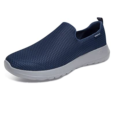 ff2a57ac454f Skechers Men s Go Walk Max Navy Grey Walking Shoes  Amazon.in  Shoes    Handbags
