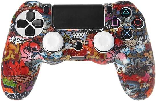 Baodanjiayou - Carcasa de silicona para mando de PS4 (compatible con mando de PlayStation 4): Amazon.es: Electrónica