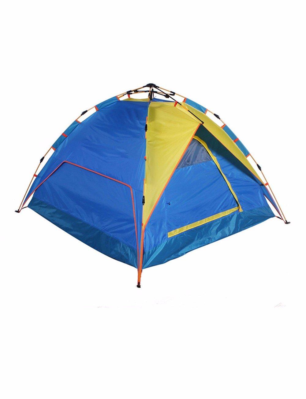 SJQKA-Outdoor Camping Zelt Ausrüstung, 3-4 Personen mit einem Schlafzimmer Hydraulische schnelles Öffnen Full-Automatic Zelt