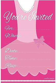 Amazoncom Dolce Mia Ballerina Party Invitations Party Pack 8