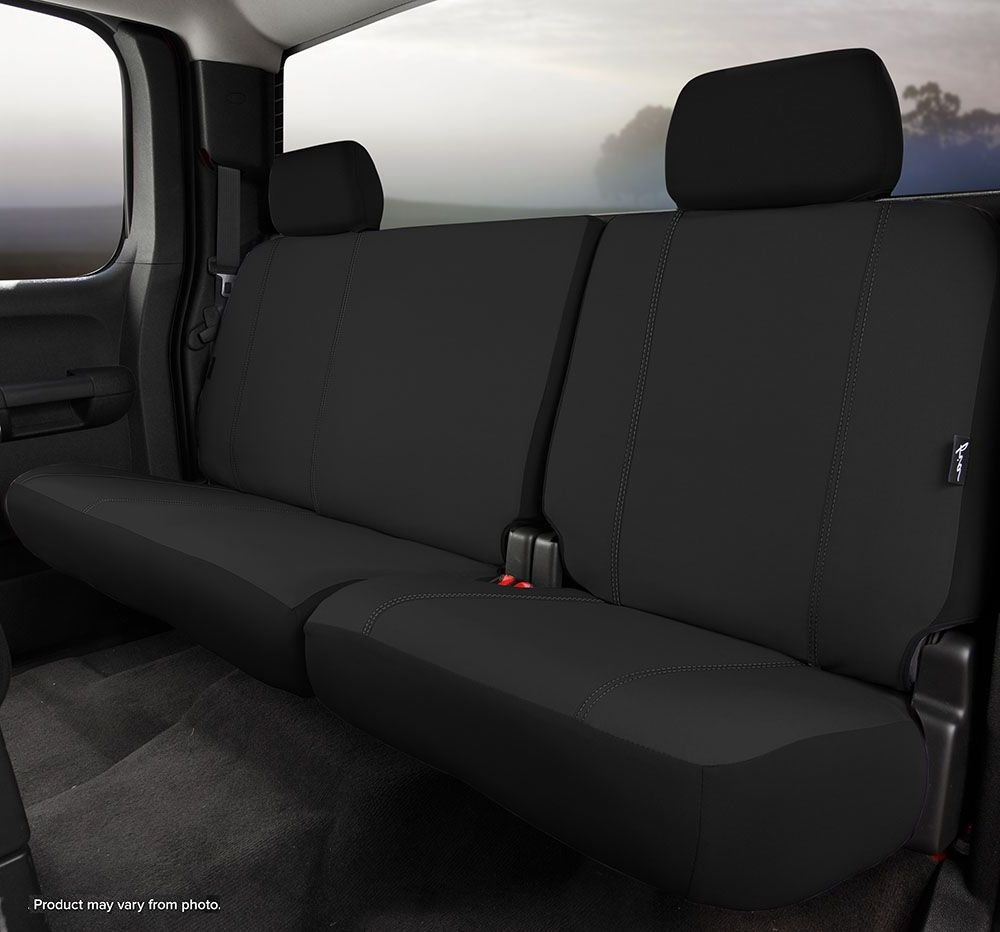 Poly-Cotton, Fia SP82-43 GRAY Custom Fit Rear Seat Cover Bench Seat Gray