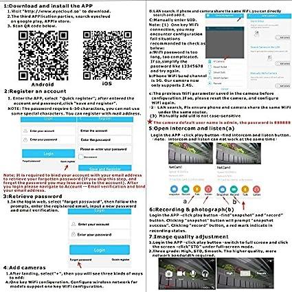 Amazon com: XuCoo HD IP Camera Home WiFi Security Cameras