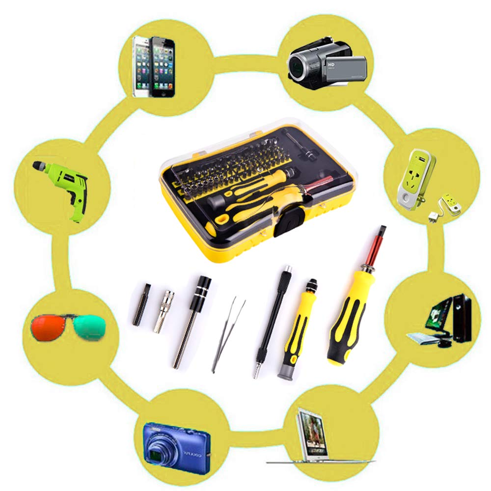Professional Magnetic Screwdriver Set - Precision,62 in 1 Electronic Repair Tool Kit Kinds of Magnetic Screwdriver Bits Apply to Phone, iPhone, iPad, Watch, Tablet, PC, MacBook Laptop and More.