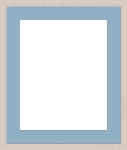 § cadre passe-partout photo Oval Gris Bleu ciel