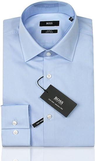 BOSS Herren Jenno Slim-Fit Business-Hemd aus Baumwoll-Popeline