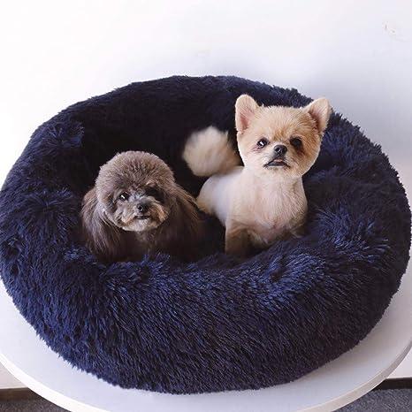 Lamzoom Cama para Mascotas Deluxe para Perros y Gatos pequeños y medianos con cojín Suave Redondo