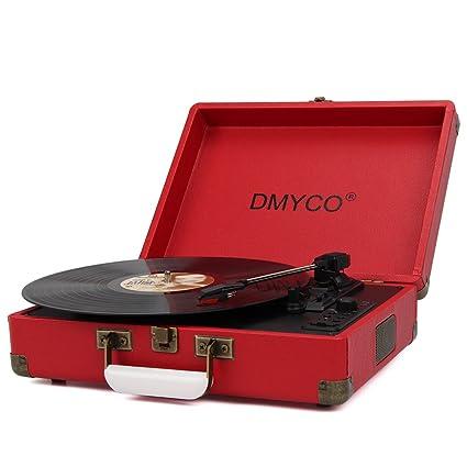 Tocadiscos Retro, DMYCO Tocadiscos Estéreo 3 33/45/78 Velocidades ...