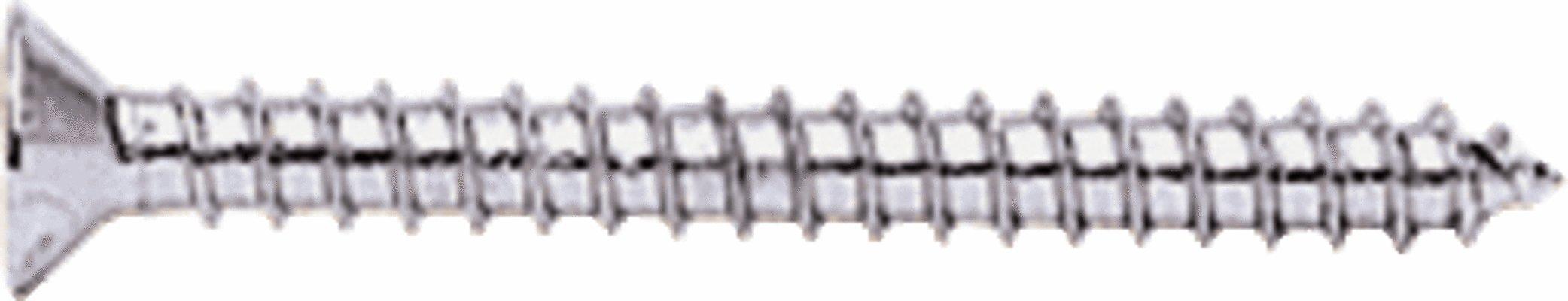 CRL Chrome Bulk 10 x 2'' Wall Mounting Flat Head Phillips Sheet Metal Screws