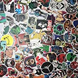 "Custom & Decorative {2.4'' to 5"" Inch} 200 Bulk Pack of Jumbo Size Stickers for Arts, Crafts & Scrapbooking w/ Random Vinyl Skateboard Longboard Tone Laptop Luggage Dope Assorted Lot Style {Multicolor}"