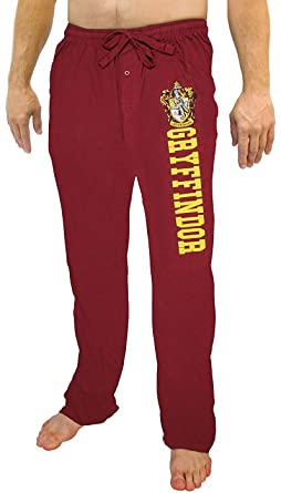 909ac92593b3 Harry Potter Gryffindor House Crest Men s Red Pajama Lounge Pants (Small)