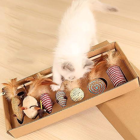 Amazon.com: WHZWH Juguete para gato retráctil interactivo ...