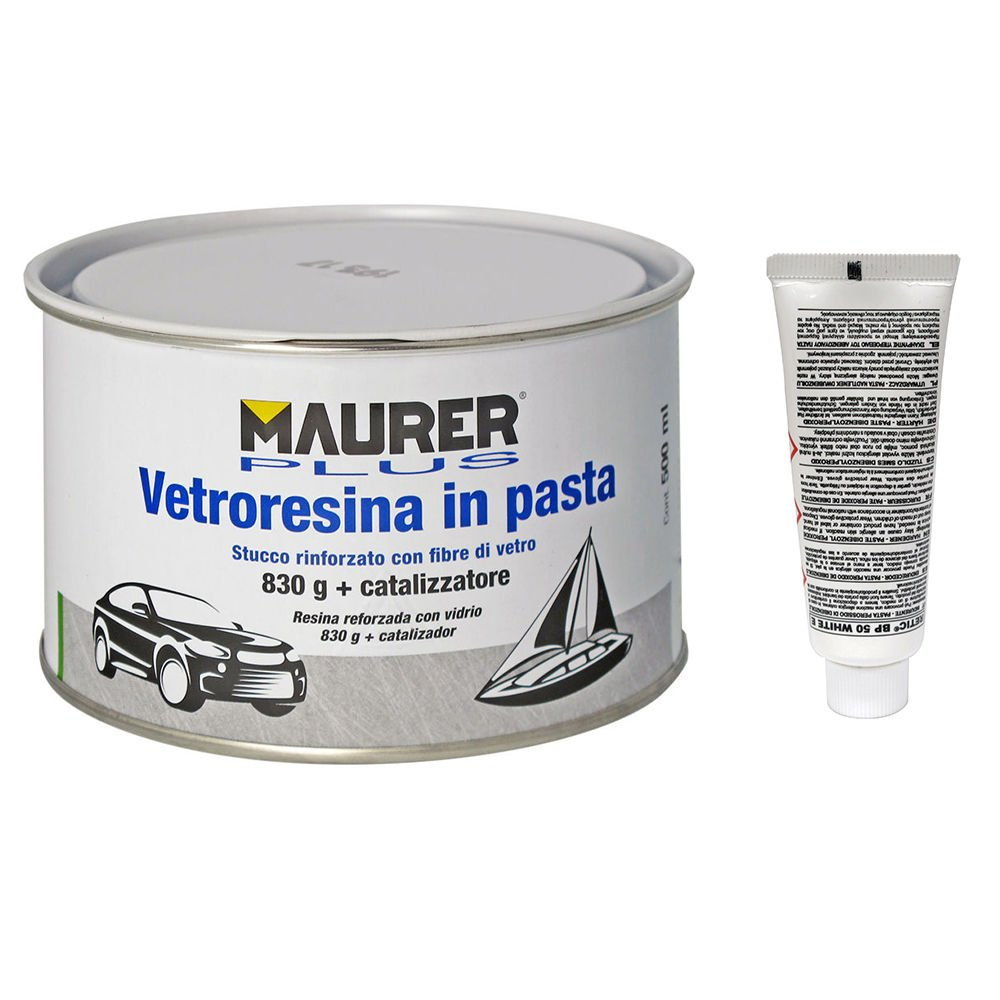 Masilla Fibra Vidrio 150 Ml. (Con Endurecedor) MAURER