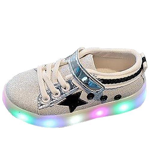 XFentech Unisex Niños Niñas LED Zapatillas Luces Luminosos Zapatillas Deportivos, Rojo: Amazon.es: Zapatos y complementos