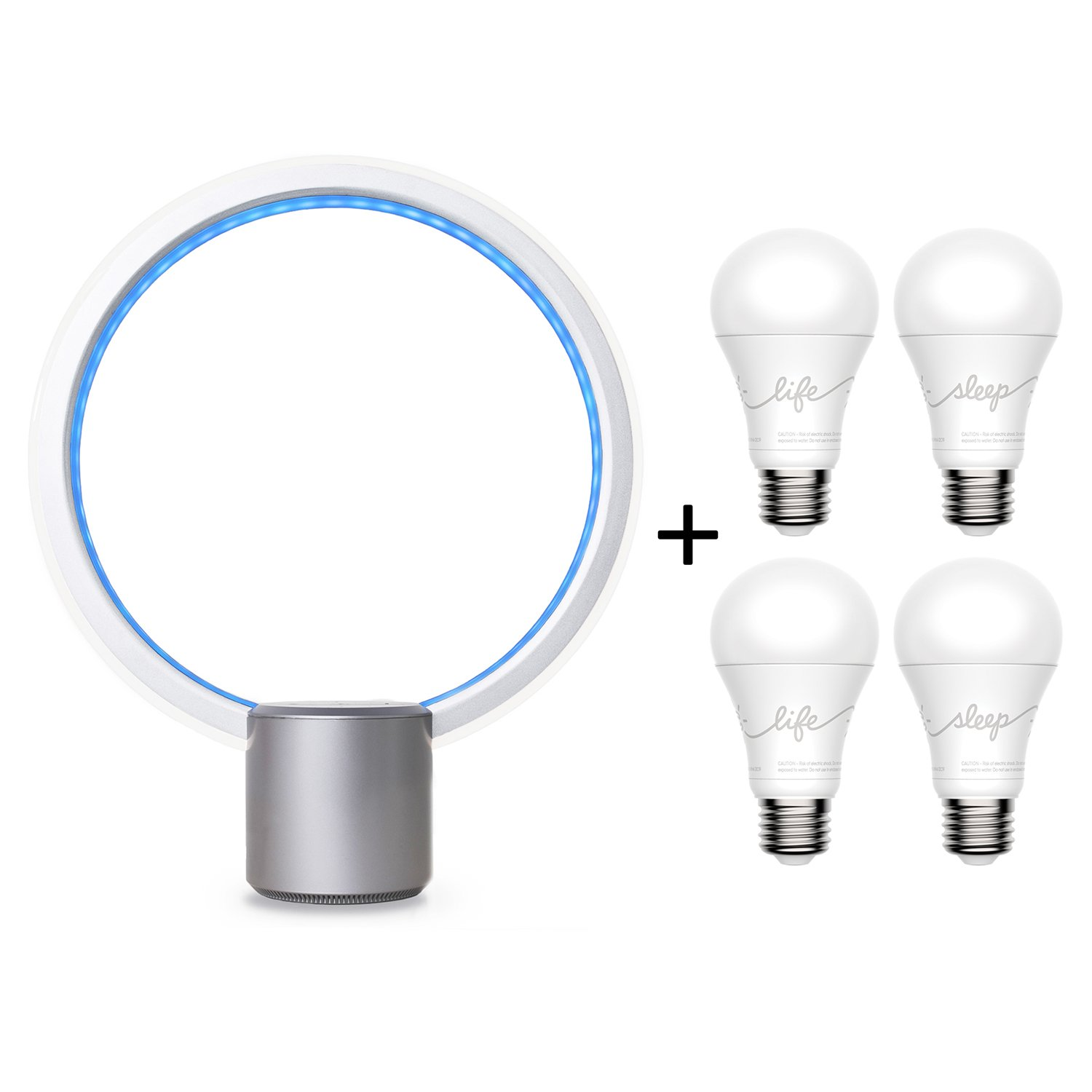 C by GE Sol + C-Sleep + C-Life Starter Kit (Smart LED Light Fixture and 2 C-Sleep + 2 C-Life Smart LED Light Bulbs) by GE Lighting, works with Amazon Alexa
