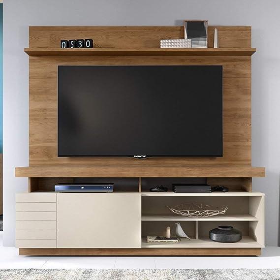 Caemmum - Mueble de pared para televisor (65 pulgadas, madera de roble): Amazon.es: Hogar