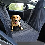 Gluckluz Car Seat Cover for Dog Cat Back Seat Carrier Safety Travel Protector Mat With Seat Anchors for Cars Trucks, Suv's - Black