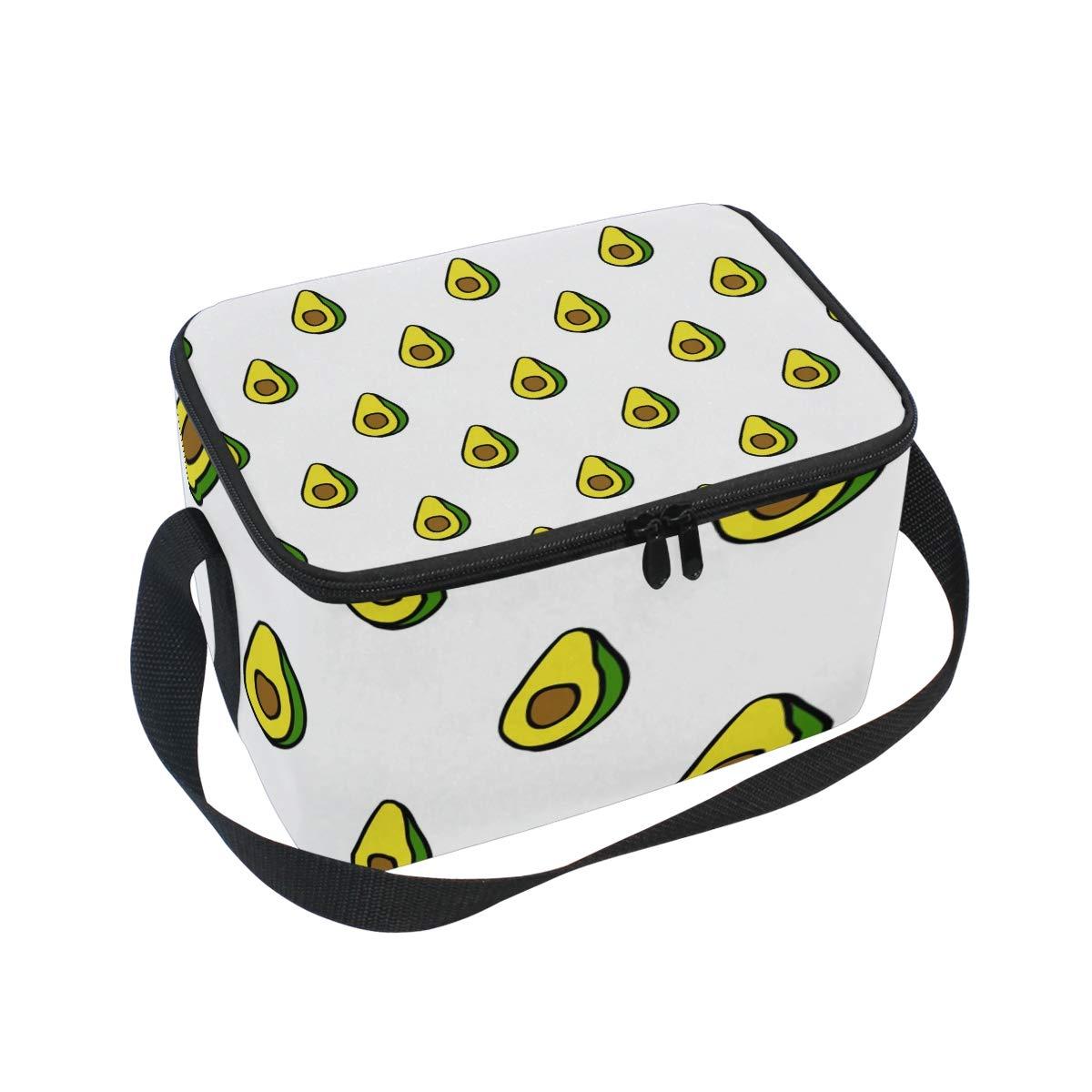 Amazon.com: JUAMA Avocado Halfs Insulated Lunch Bag Food ...