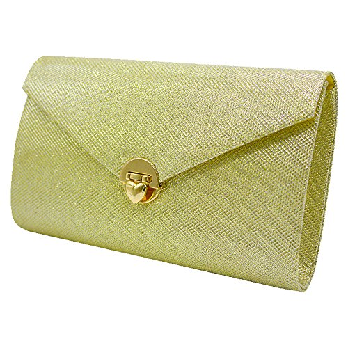 Women Clutch Wiwsi Gold Glitter Envelope Handbag Retro Party gold Wallet Evening Bag Purse dFHgFq0