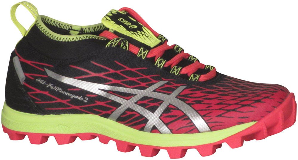 ASICS Womens Gel Fuji Runnegade 2 Trail Running Shoes B01KKEWGZW 6 B(M) US|Plasma Guard Azalea Silver Black