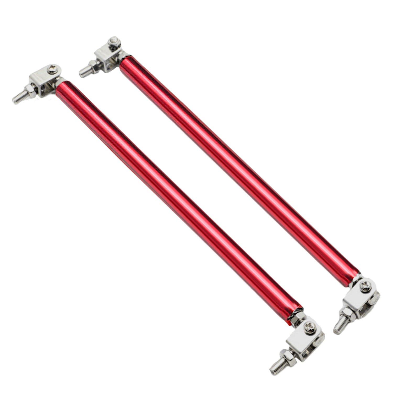 2PCS Universal Front Bumper Brace Lip Splitter Strut Rod Tie Support Bar 20cm Red by Sopear
