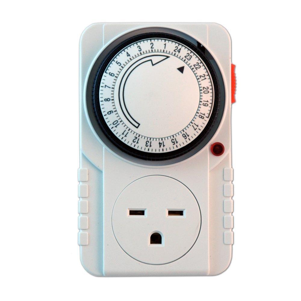 240V Analog Single Timer, Single Outlet Electrical Timer