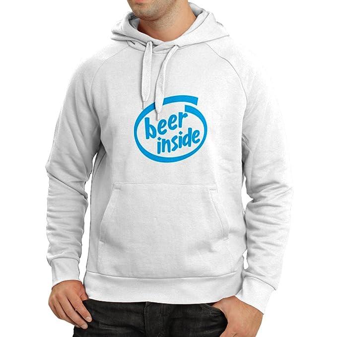 Sudadera con Capucha Beer Inside - para Amantes de la Cerveza, Logotipo Divertido, Regalo