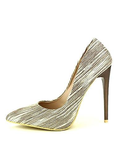 meilleur service 2e36f 11fdd Cendriyon, Escarpin zébré Beige Marron MULANKA Chaussures ...