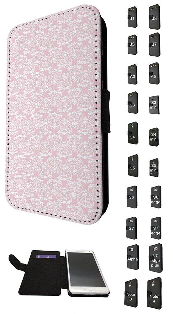 Amazon Com 002871 Geometric Girly Pink Wallpaper Pattern Design Samsung Galaxy S5 Mini Credit Card Flip Case Purse Pouch Stand Cover 5057345641578 Books
